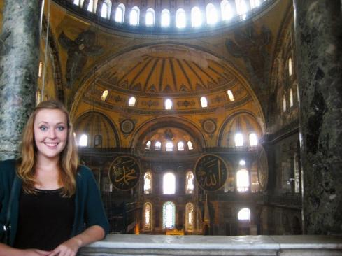 Me in the Hagia Sophia